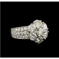 14KT White Gold 3.17 ctw Diamond Ring