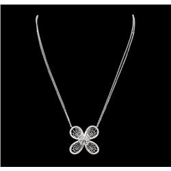 0.71 ctw Diamond Necklace - 14KT White Gold