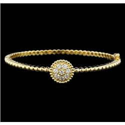0.65 ctw Diamond Bangle Bracelet - 14KT Yellow Gold