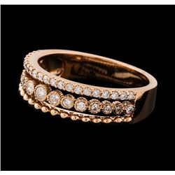 0.46 ctw Diamond Ring - 14KT Rose Gold