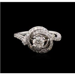 1.35 ctw Diamond Ring - 14KT White Gold