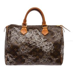 Louis Vuitton Monogram Canvas Leather Dentelle Speedy 30 cm Bag