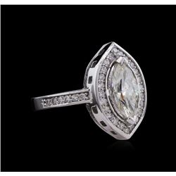 1.76 ctw Diamond Ring - 14KT White Gold