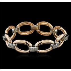 1.00 ctw Diamond Bracelet - 14KT Two-Tone Gold
