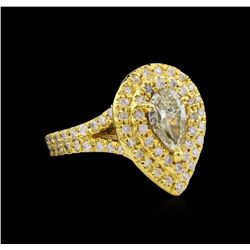 2.09 ctw Diamond Ring - 14KT Yellow Gold