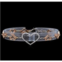 0.86 ctw Diamond Bracelet - 14KT Two-Tone Gold