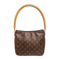 Louis Vuitton Monogram Canvas Leather Looping PM Shoulder Bag