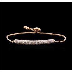 1.45 ctw Diamond Bracelet - 14KT Rose Gold