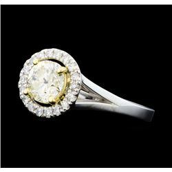 1.25 ctw Diamond Ring - 14KT White And Yellow Gold