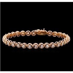 1.83 ctw Diamond Tennis Bracelet - 14KT Rose Gold