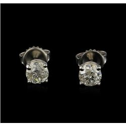 14KT White Gold 1.19 ctw Diamond Stud Earrings