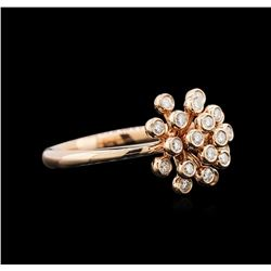 14KT Rose Gold 0.26 ctw Diamond Ring