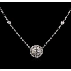 0.74 ctw Diamond Necklace - 14KT White Gold