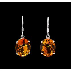 Crayola 17.60 ctw Citrine Earrings - 14K White Gold