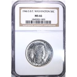 1946-S BOOKER T WASHINGTON HALF, NGC MS-66