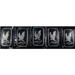 5-EAGLE ONE OUNCE .999 SILVER BARS