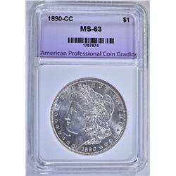 1890-CC MORGAN DOLLAR, APCG CH BU