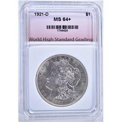 1921-D MORGAN DOLLAR, WHSG CH BU+