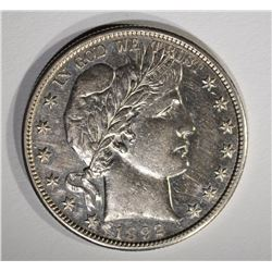 1892-S BARBER HALF DOLLAR, AU/BU