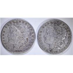 1883-S XF/AU & 1899-S ,MORGAN DOLLARS ORIGINALS