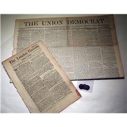 REVOLUTIONARY/CIVIL WAR ERA NEWSPAPER & TOKEN LOT