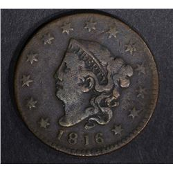 1816 LARGE CENT F/VF