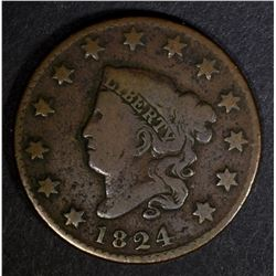 1824 LARGE CENT VG