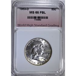 1953-D FRANKLIN HALF DOLLAR WHSG