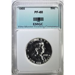 1955 FRANKLIN HALF DOLLAR EMGC SUPERB