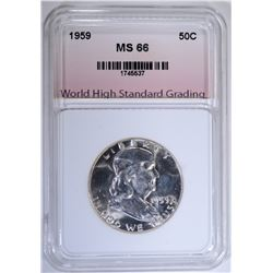 1959 FRANKLIN HALF DOLLAR WHSG