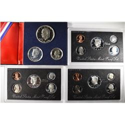 U.S. SILVER PROOF SETS; 2-1997, 1996, 1976 3pc