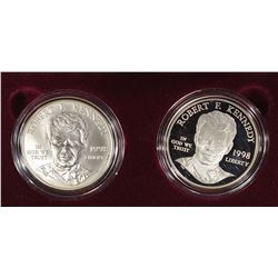 1998 KENNEDY 2 PIECE COMMEM SET, PROOF & UNC