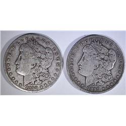 MORGANS; 1898-S F/VF & 1899-S F/VF