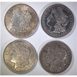 (4) 1921 MORGAN DOLLARS, CIRC OR BETTER