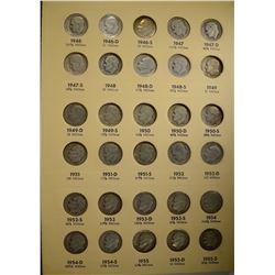 COMPLETE CIRC  ROOSEVELT DIME SET 1946-64