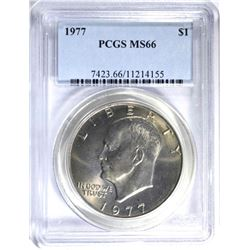 1977 CLAD EISENHOWER DOLLAR, PCGS MS-66