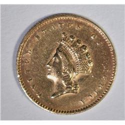 1854 TYPE 2 $1.00 GOLD  AU