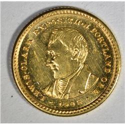 1905 $1.00 GOLD LEWIS & CLARK EXPO  CH BU
