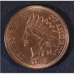 1875 INDIAN HEAD CENT  GEM BU