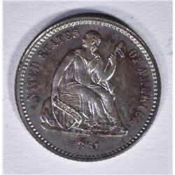 1861 SEATED LIBERTY HALF DIME  GEM PROOF