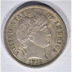 1912 BARBER DIME  CH BU