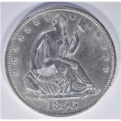 1856 SEATED LIBERTY HALF DOLLAR  CH BU
