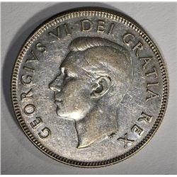 1948 CANADA 50 CENTS  AU