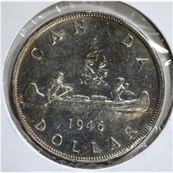 1946 CANADA DOLLAR  CH.BU SEMI-PL