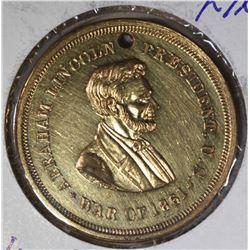 AUTHENTIC 1861 ABRAHAM LINCOLN CIVIL WAR CH.BU