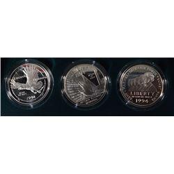 1994-P U.S. Veterans 3-Piece Proof Coin Set