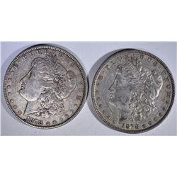 2 - 1878 7F MORGAN DOLLARS XF/AU
