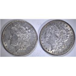 1878 REV OF 79 AU & 1878-S AU/BU MORGAN DOLLARS