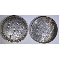 1883-S XF/AU & 1878-S CHBU MORGAN