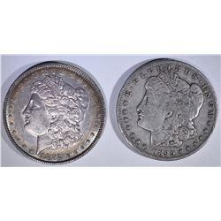 MORGANS; 1899-S VF & 1892 CHAU